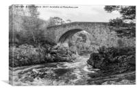 Little Garve Bridge, Canvas Print