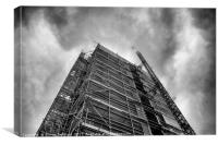 Scaffolding Structure, Canvas Print