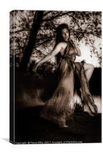 Dance in sepia, Canvas Print