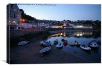 St Mawes Harbour by Night, Canvas Print