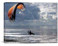 Powered Paraglider, Canvas Print