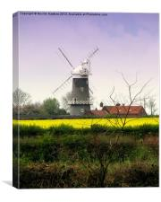 Bircham Windmill (2), Canvas Print