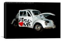 Jesus Car, Canvas Print