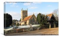 West Newton Church (2), Canvas Print