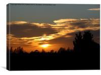Winter Sunset, Canvas Print