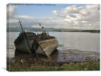 Boats on Mull, Canvas Print