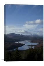 Viewpoint overlooking Loch Garry, Canvas Print