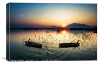 Sunset on the Dong Mo lake, Canvas Print