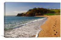 Blackpool Sands, South Devon, Canvas Print