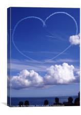 The Red Arrows Heart , Canvas Print