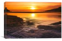 Wonwell Beach Sunset, Canvas Print