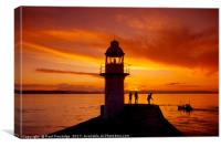 Sunset Brixham Breakwater, Canvas Print