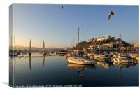 Torquay Harbour, Early Morning, Canvas Print