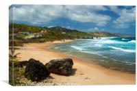 Bathsheba Beach, Barbados, Canvas Print