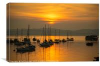 Outer Harbour Sunset, Canvas Print