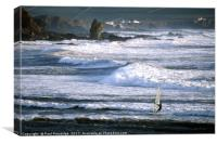 Windsurfer at Bantham, Canvas Print