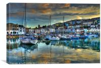 Twilight in Brixham, Canvas Print