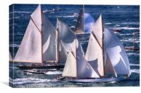 Yachts off The Isle of Wight, Canvas Print