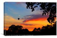 Hot Air Balloon over Silverton, Canvas Print