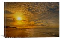 Early Morning on Exmouth Beach, Canvas Print