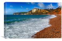 Seaton Beach Looking Westward, Canvas Print