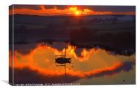 Kingsbridge Estuary Sunset, Canvas Print