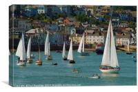 Classic Yachts at Dartmouth, Canvas Print