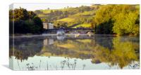 The River Dart at Totnes, Canvas Print