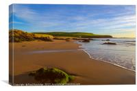 Bantham Beach, Devon, Canvas Print