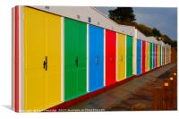 Colourful Beach Huts at Exmouth, Canvas Print
