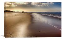 Exmouth Beach in the Early Morning, Canvas Print