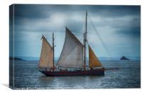 Brixham Sail Trawler 'Leader', Canvas Print