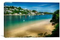 Salcombe from Mill Bay Beach, Canvas Print