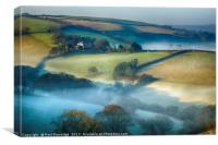 Misty Devon Landscape, Canvas Print