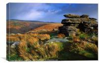 Coombestone Tor Dartmoor, Canvas Print