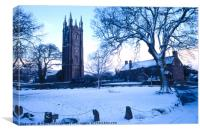Widecombe in the Snow, Canvas Print