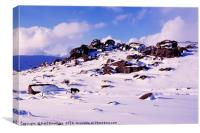 Bonehill Rocks in Snow, Canvas Print