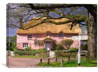 Devon Cottage, Canvas Print