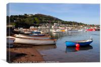 River Beach, Teignmouth, Canvas Print