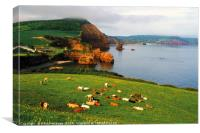 Ladram Bay, East Devon, Canvas Print