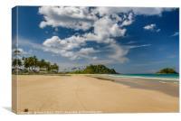 Tropical beach, Canvas Print