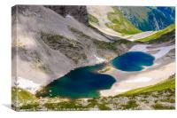 High mountain lake, Canvas Print