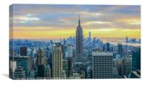 Sunset in New York City, Canvas Print
