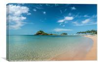 Palawan beach and sea, Canvas Print