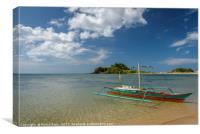 Filipino boat in Palawan, Canvas Print