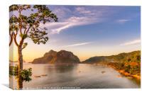 Sunset in Palawan, Canvas Print