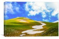 Path of snow, Canvas Print