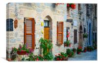 Town in Umbria, Italy, Canvas Print