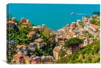 Cityscape of Riomaggiore, Canvas Print