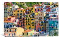 Colorful buildings of Manarola, Canvas Print